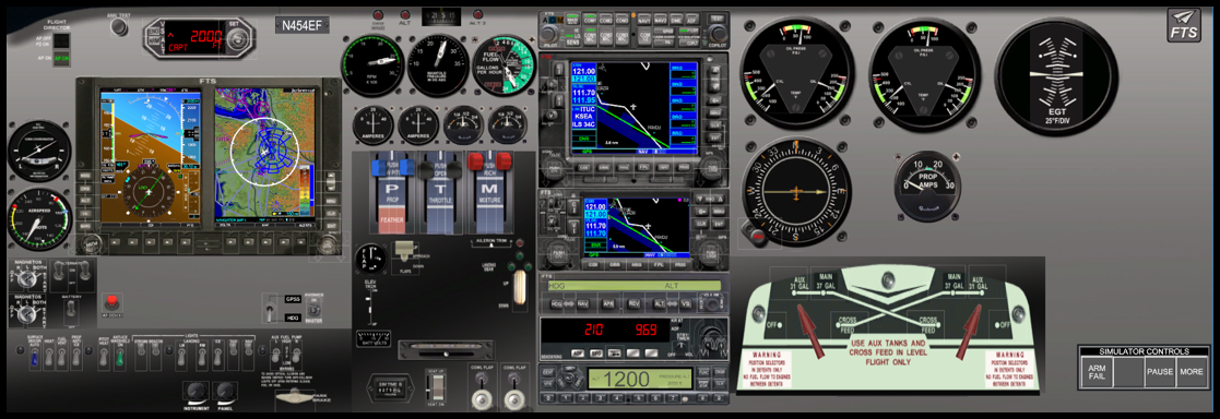 FAA Approved BATD TouchTrainer FM 100 Fixed Wing- Afforable and